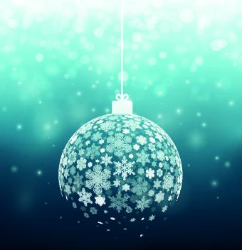 Snowflake Christmas Ball Vector Vector Christmas Vector