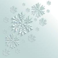 Paper Floral White Christmas Backgrounds Vector 01 free ...