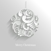 Paper Floral White Christmas Backgrounds Vector 02 free ...