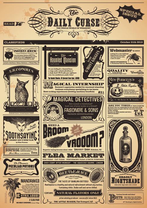 Creative Newspaper Design Elements Vector Set 06 Vector