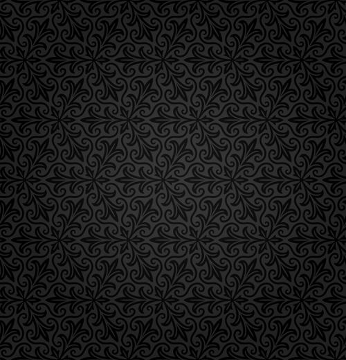 Dark ornate floral seamless pattern vector 04 free download