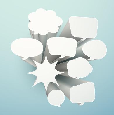 3d white text cloud