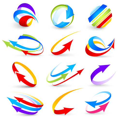 abstract colorful arrows vector