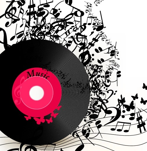 3d Emoticons Wallpapers Lp With Music Vector Background 02 Free Download