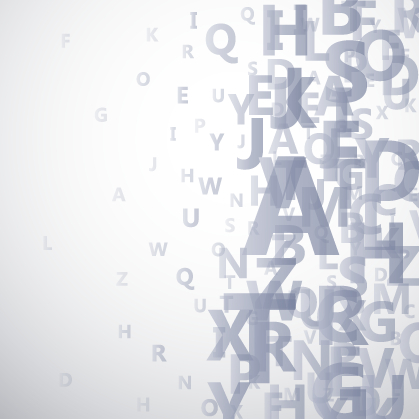 Alphabet Gray Background Vector Graphics Vector