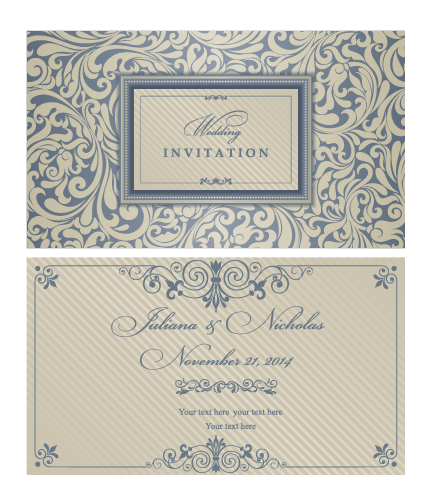 260 Wedding Invitation Templates Vectors Free Vector Art Graphics 123freevectors