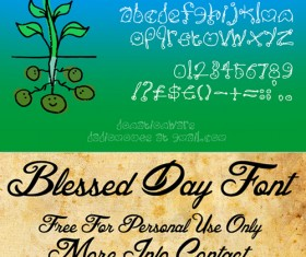 Download Handwritten font free download, 25 vector files
