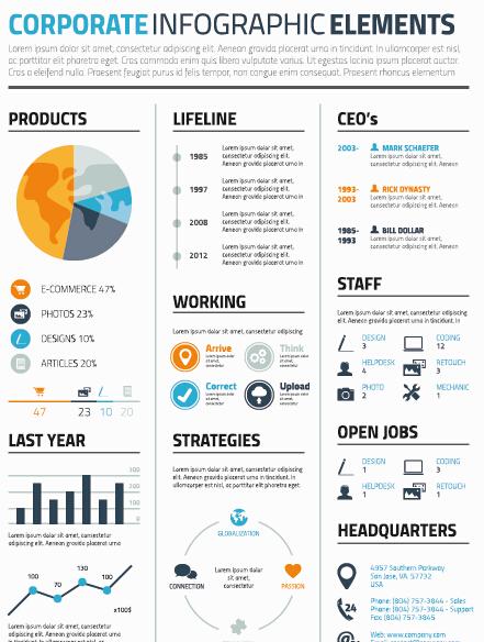 Creative Resume Template Design Vector Material 05 Free