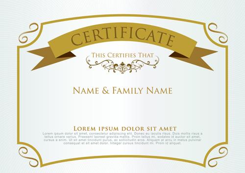 Elegant certificate template vector design 06 free download