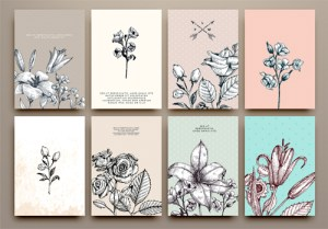 drawing cards flowers hand vector card flower eps getdrawings freedesignfile