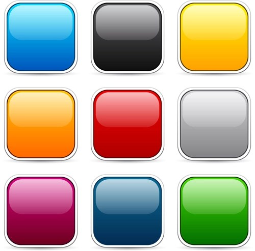 App button icons colored vector set 19 free download