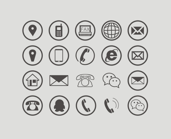 Communications circular icons free vector free download