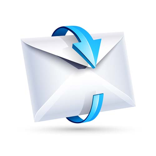 email letter with arrow