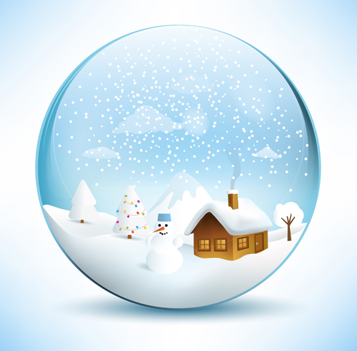 3d Christmas Wallpaper Backgrounds 2015 Christmas Crystal Ball With Winter Vector 12 Free Download