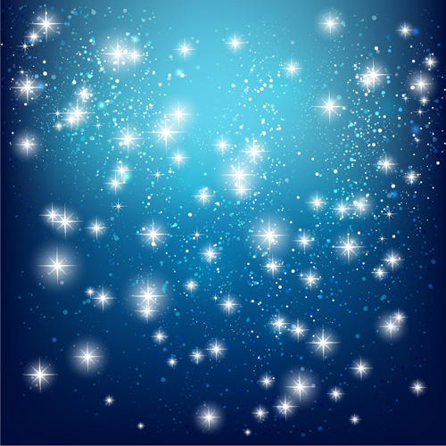 Vector glowing stars art background  Vector Background