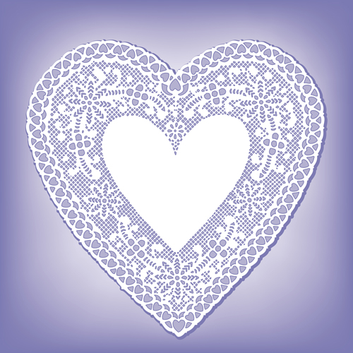 lace heart cards vector