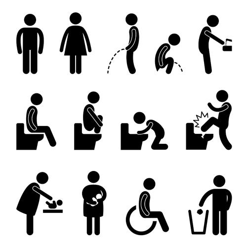People Icon symbol vector set 01 free download