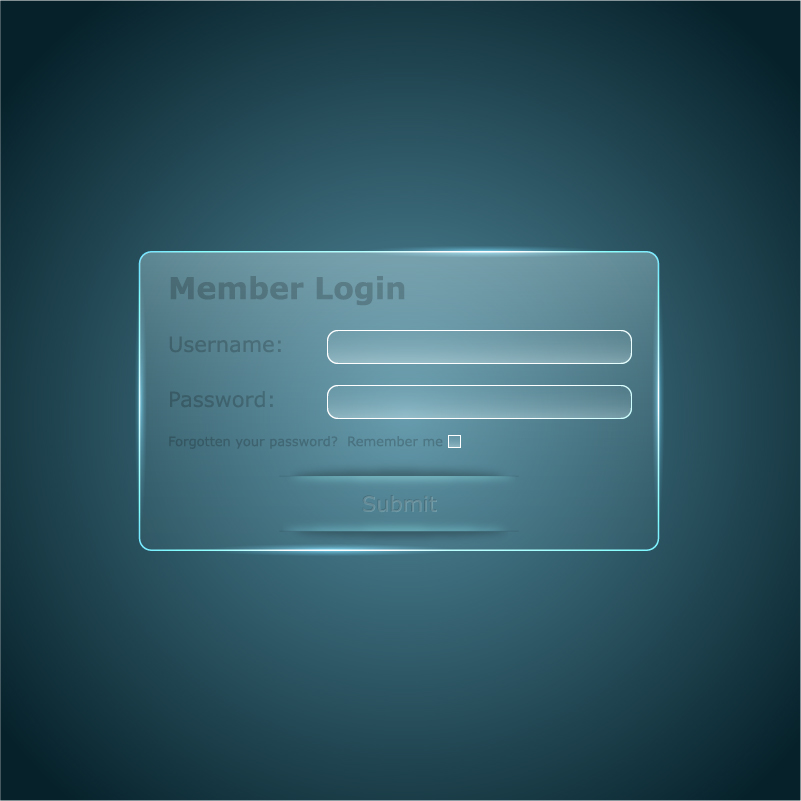 Member login interface transparent vector 01 free download