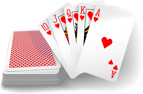 Royal Straight Flush Playing Cards Vector 05 Vector Card Free Download