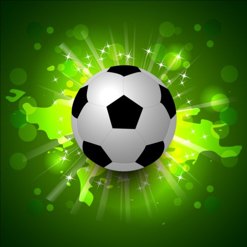 3d Emoticons Wallpapers Green Styles Soccer Background Vector 04 Free Download