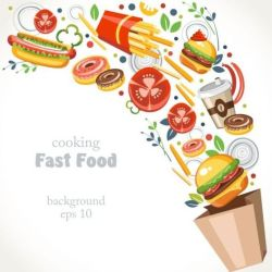 food fast background vector nutrition therapy medical 3rd edition approach study case 2008 eps format freedesignfile