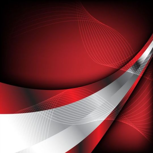 Abstract red with silver background vector free download
