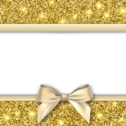 Gold with white background and bow vectors free download