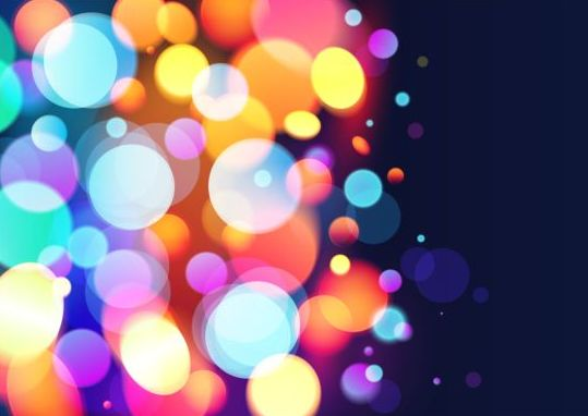 Halation colorful bokeh effect background vector 08 free