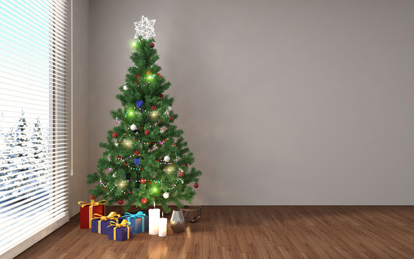 place the christmas tree