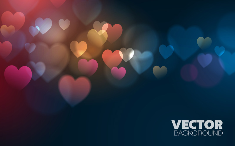 3d Emoticons Wallpapers Dream Blur Background With Heart Vector Free Download