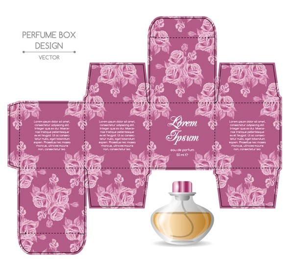 It's the first step of a box packaging design. Perfume Box Packaging Template Vectors Material 01 Free Download