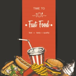 poster food fast template material vectors vector eps format