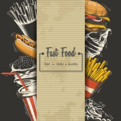 food poster fast template vectors material vector eps format