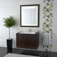 Bathroom cabinet towel rack with mirror Stock Photo free