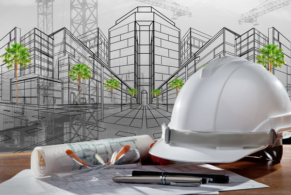 Civil engineer working table with safety helmet Stock Photo 07  Construction stock photo free