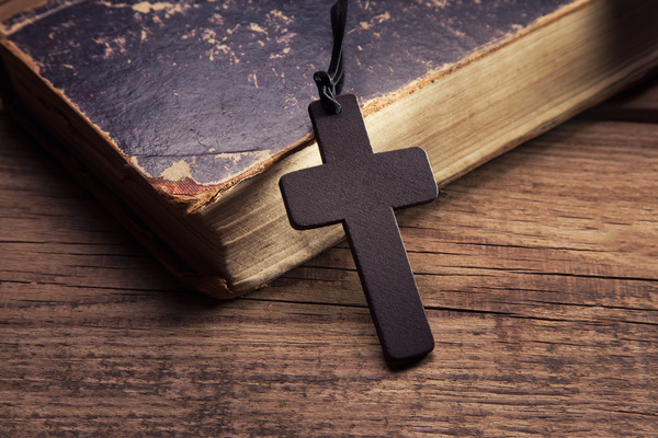 cross with the bible