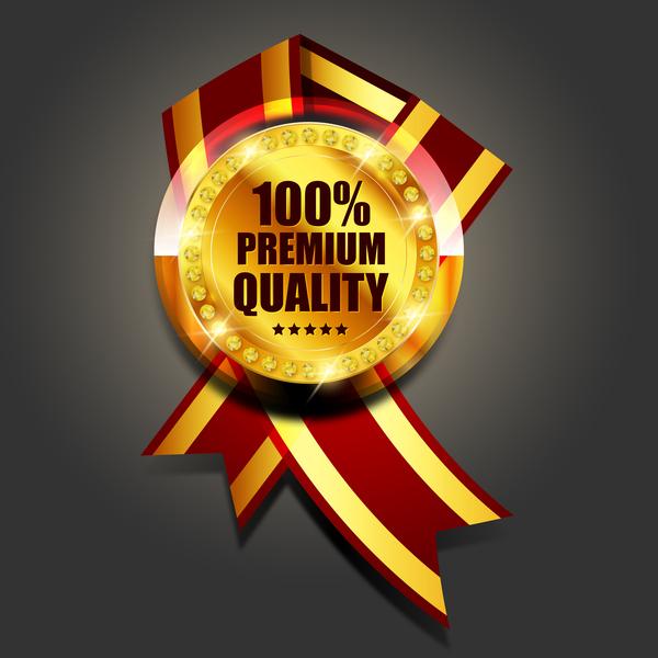 luxury golden badge design