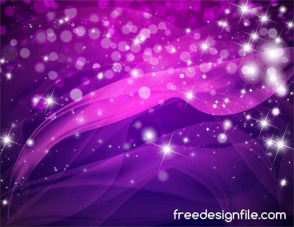 Cute Retro Car Wallpaper Purple Abstract Background With Shining Stars Vector 03
