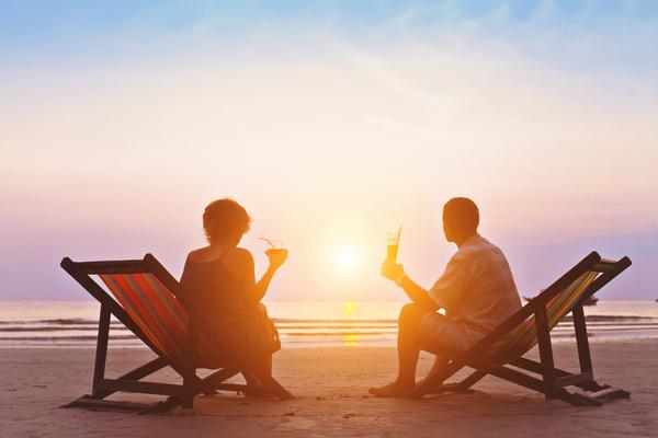 family enjoying romantic sunset on the beach  free download