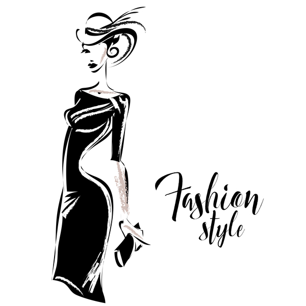 Woman fashion styles illustration vector material 05 free