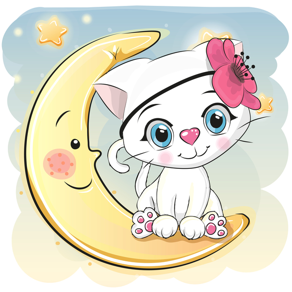 cute cartoon cat card