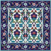 ceramic tile floral decor pattern vector - Vector Floral ...