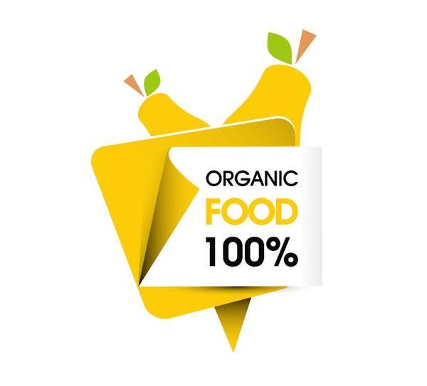 organic food sticker design