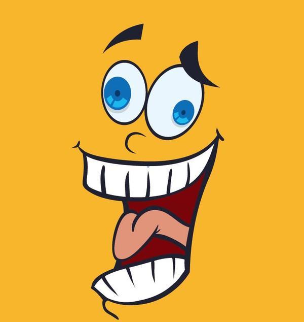 funny cartoon face expression