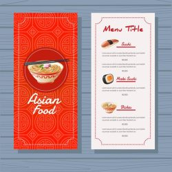 menu background food template asian vector eps file