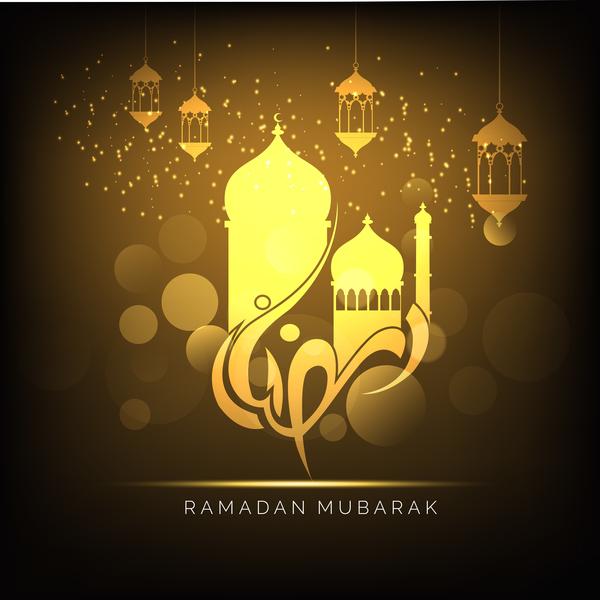 Ramadan Kareem Greeting Card Vectors Set 07 Free Download