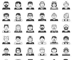 People Icon symbol vector set 03 free download