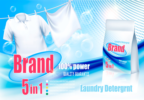 laundry detergent ad poster
