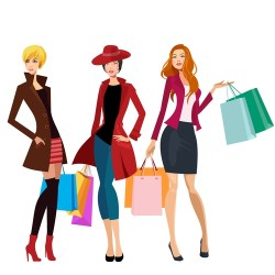 shopping vector illustration ladies cartoon eps format fotolia royalty