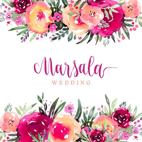 wedding invitation card with